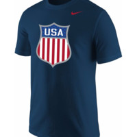 Nike Men's USA Hockey Crest Navy T-Shirt