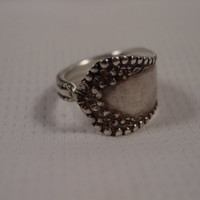 A Spoon Rings Plus Pretty Unpolished Spoon Ring Size 6 Vintage Spoon and Fork Jewelry t118