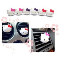 Wotefusi Car Solid Perfume Air Freshener Air Cleaner Musk One piece Cartoon Cat Pink Purple Red Color Shipped Randomly
