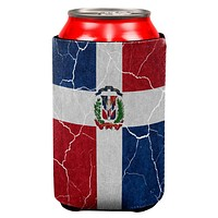 Distressed Dominican Republic Flag All Over Can Cooler