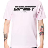 The Dipset USA Logo Tee in Pink