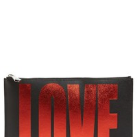 Givenchy Medium Iconic Print Calfskin Leather Pouch | Nordstrom