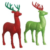 "Holiday Glitter Reindeer 13.5"" - Assorted"