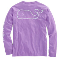 Vineyard Vines Long Sleeve Vintage Whale Graphic Pocket Tee- Sea Urchin