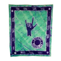 I Love You ASL Batik Wallhanging - African Wax Print Support Deaf Schools in Ghana