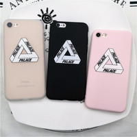 Palace for iphone 5 5s SE 6 6s 7 plus Case Brand New Popular Logo Luxury Fshion Soft Silicon Phone Case Cover Coque Fundas