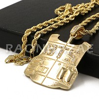 K-Pop BTS DNA Army Your Concert Bulletproof Vest Pendant w/ 4mm Rope Chain G