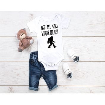 Not All Who Wander Are Lost Toddler Shirt | Bodysuit