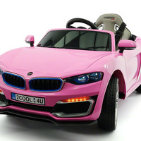 BWM Style Kids Electric Ride-On Toy Car For Kids | Pink