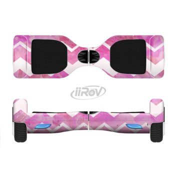 The Pink Water Color with White Chevron Full Body Skin Set for the Smart Drifting SuperCharged Transportation iiRov