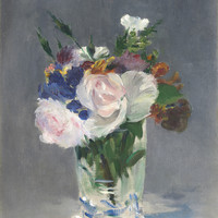 Edouard Manet  - Flowers In A Crystal Vase C1882