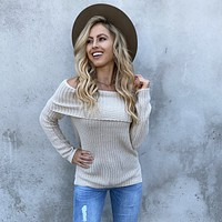 Take On The Day Cream Knit Sweater