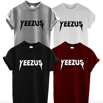 Yeezus Shirt, West Tee Inspired Jesus, Unisex Womans Mens, Kardashian Kim Kylie Jenner Kanye Shirts, Album Music Hip Hop Rap Rapper