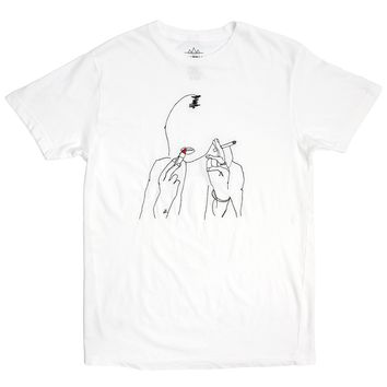Kate Embroidered white T-shirt by Altru Apparel