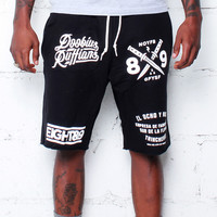 Doobious Ruffians French Terry Shorts Black
