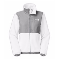 The North Face Women's Denali Jacket TNF White/High Rise Grey Heather