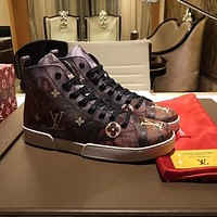 Supreme x LOUlS VUlTTON LV Fashion Stellar Sneaker Boot Luxury High top Sneaker Shoes - 01