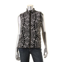 Charter Club Womens Quilted Printed Casual Vest