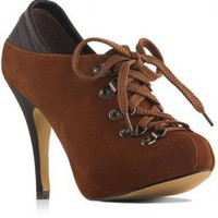 Lace Up Shoe Boots with Sheepskin Upper Lining