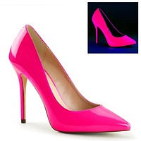 """Amuse 20 Neon Pink Pointy toe Pump 5"""" Heels Size 11 Shoes"""