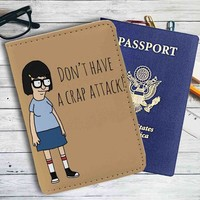 Bob's Burgers Tina Belcher Quotes Leather Passport Wallet Case Cover