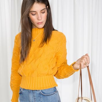 & Other Stories | Chunky Knit Sweater | Yellow
