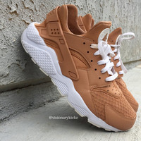 Custom Vachetta Tan Nike Huaraches (read description fro more info)
