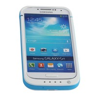 NewNow 4200mAh Portable USB External Rechargeable Backup Battery Power Bank Charger Case with Viewing Stand for Samsung Galaxy S4 i9500 (White + Blue)