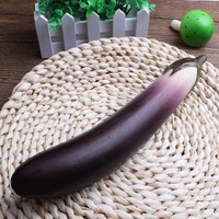 Slow Rising Foam Toy Vegetable Eggplant Cognition Learning Hand Squishy Toys for Kids Soft Toys Gift Fun Jokes W20