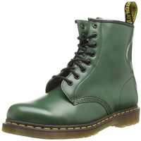 Dr. Martens 1460 Originals 8 Eye Lace Up Boot,Green Smooth Leather,7 UK (US Women's 9 M/US Men's 8 M)