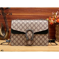 GUCCI 2019 new women's fashion wild print small square bag chain bag shoulder bag #5