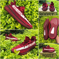YEEZY X SPLY 350 V2 BOOST ALL RED