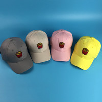 Womens Mens Summer Spring Cotton Solid Adult French Fries Printing Black White Pink Yellow Baseball Cap Snapback Hat