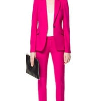 BLAZER WITH PUFFED SHOULDERS - Blazers - Woman - New collection   ZARA United States