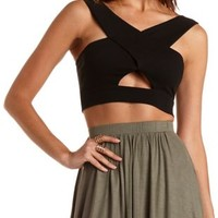 Off-the-Shoulder Crossover  Crop Top by Charlotte Russe