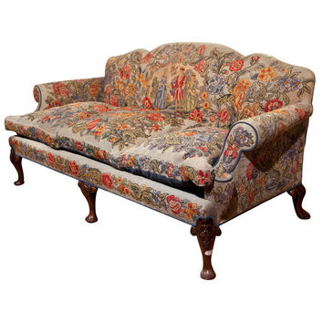 1STDIBS.COM - Greenwich Living Antiques & Design Center - English Victorian Style Needlepoint Sofa