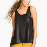 WallpapHer Faux Leather Tank (Juniors)   Nordstrom