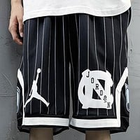 Jordan New fashion letter people print couple shorts Black