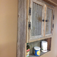 Barn Wood Spice Cabinet