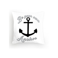Teen Wolf Throw Pillow Be Your Own Anchor 16x16