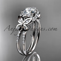 14kt white gold diamond butterfly wedding ring, engagement ring ADLR141