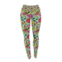 "Allison Beilke ""Garden Variety"" Flowers Yoga Leggings"