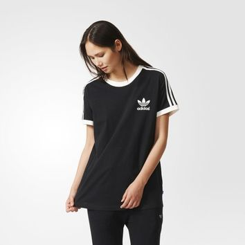 adidas 3-Stripes Tee - Black | adidas UK