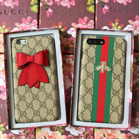 GUCCI Fashion iPhone Phone Cover Case For iphone 6 6s 6plus 6s-plus 7 7plus