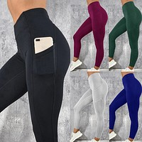 Women High Waist Pocket Leggings
