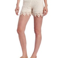 Anna Sui Women's Pinwheel Mixed Lace Short