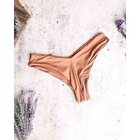 Final Sale - Seamless V-Cut Bikini Bottoms in Rose Dawn