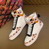 lv louis vuitton men fashion boots fashionable casual leather breathable sneakers running shoes 641