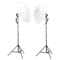 Shutter Starz Professional Photography Studio 2 x 45 Watts Lighting Umbrella Kit