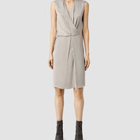 Womens Arch Vi Dress (Taupe) | ALLSAINTS.com